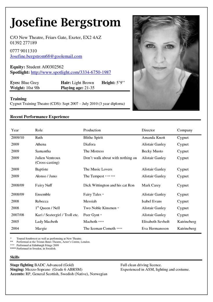 theatre resume template ipasphoto theatrical is the source of creative ideas for Resume Theatrical Resume Template