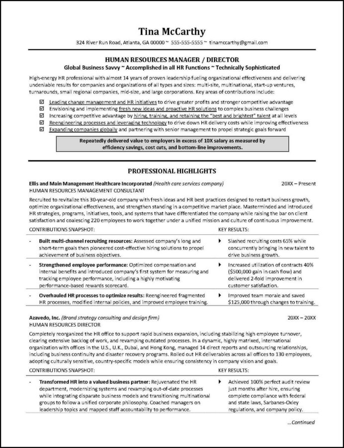 this human resources resume illustrates the importance of including not just Resume Special Accomplishments On Resume