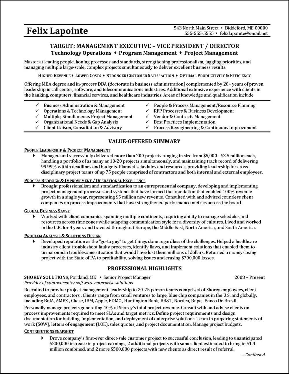 this level executive resume was professionally written for global business with extensive Resume Business Process Management Resume Examples