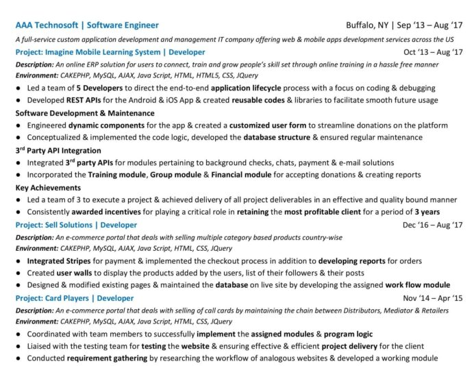 to craft the perfect web developer résumé smashing magazine resume projects section Resume Resume Projects Section