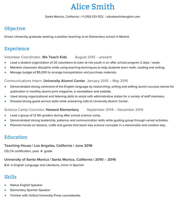 to create an esl teacher resume that get you the job go overseas certification sample Resume Teacher Resume Certification