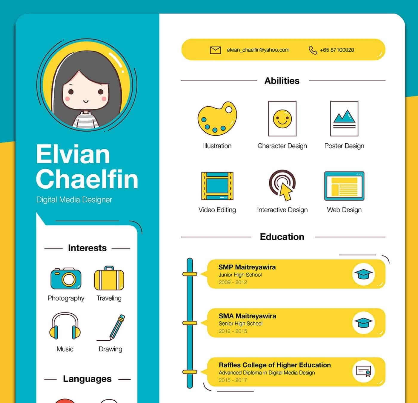 to create an infographic resume that ll get you hired inspiring examples piktochart Resume Infographic Resume Download