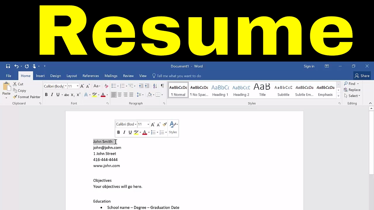 to create resume in microsoft word tutorial without recruiter skills for diploma Resume Resume Without Microsoft Word