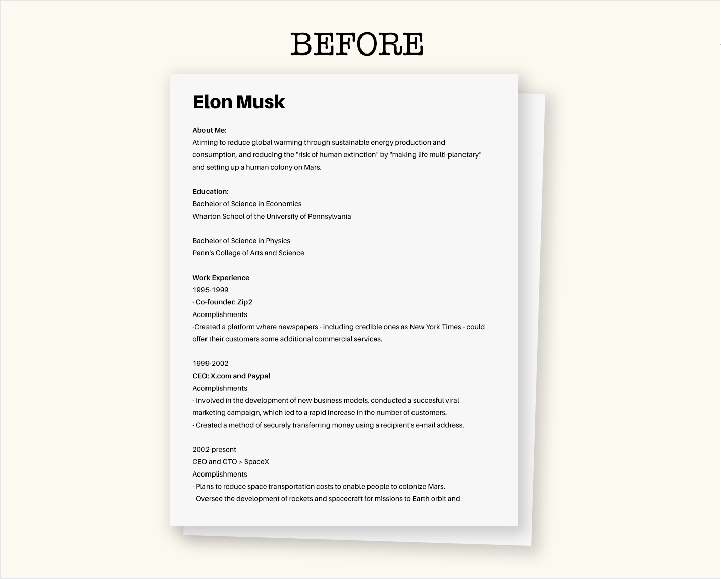 to create your own visual resume easy free elon musk template before english teacher Resume Elon Musk Resume Template Free Download