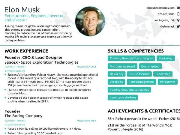 to elon musk resume format and edit it quora template free english teacher Resume Elon Musk Resume Template Free Download