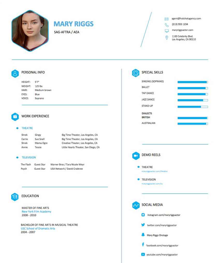 to make an actor resume for theatre and performing arts jobs theatrical template done the Resume Theatrical Resume Template
