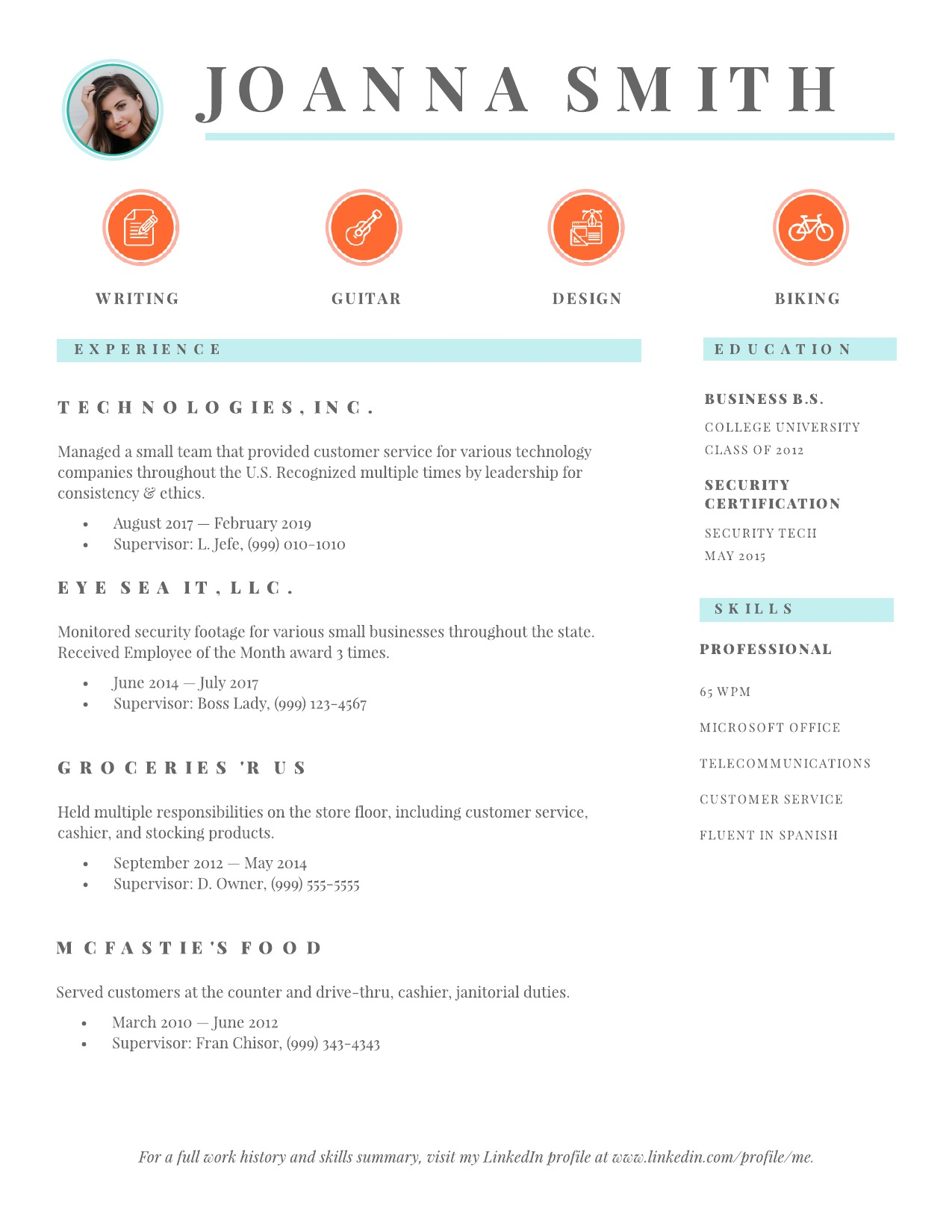 to make resume employers notice lucidpress business examples example good software for Resume Business Resume Examples 2019