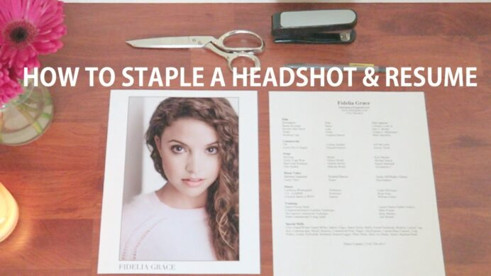 to staple your headshot and resume together acting tips tricks format hotel duties Resume Headshot And Resume Format