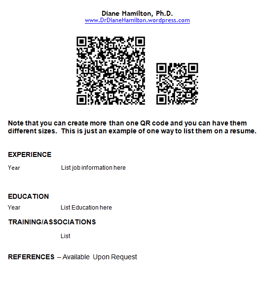 to use qr codes on your resume and business cards diane linkedin code qrresume painter Resume Linkedin Qr Code On Resume