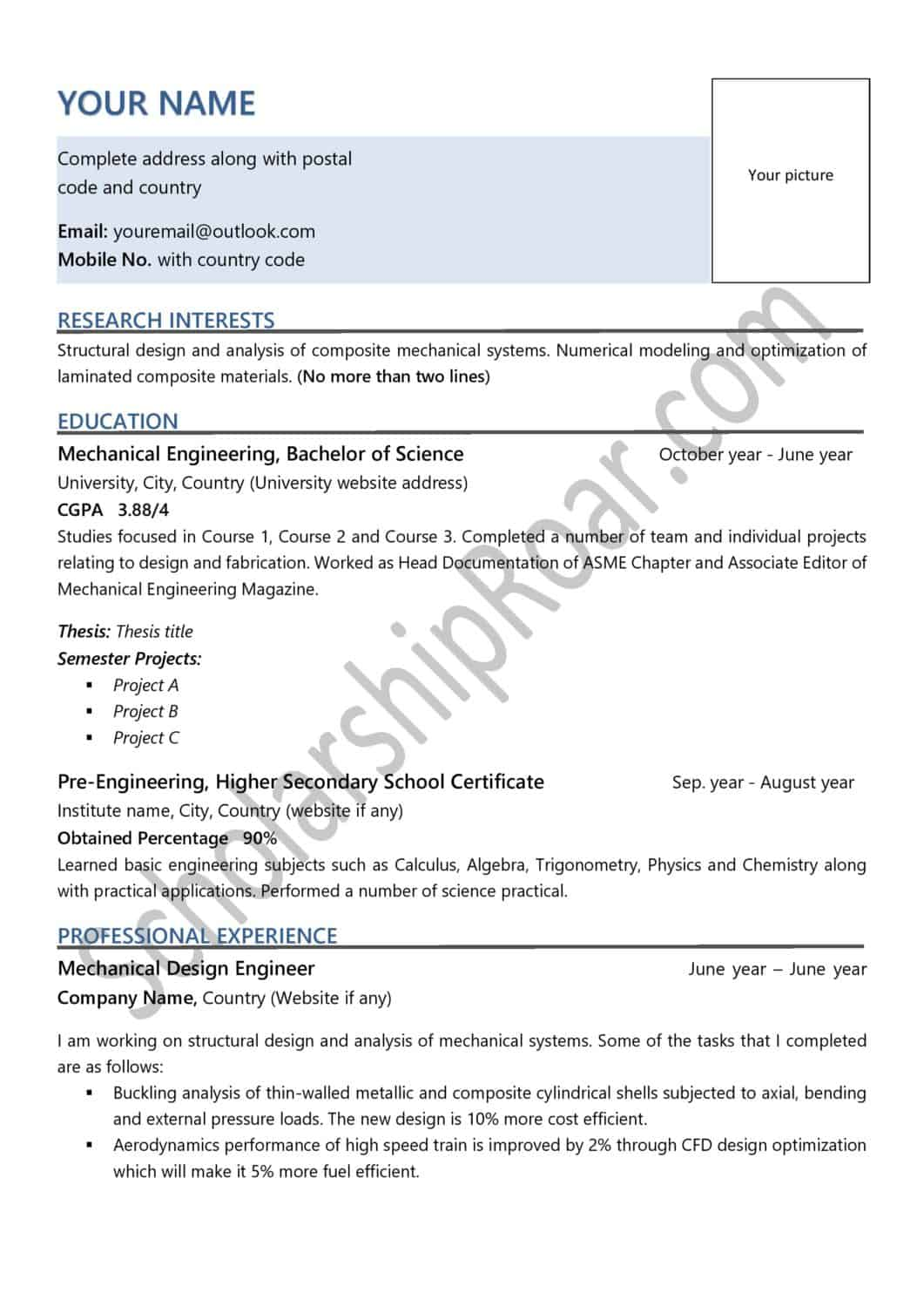 to write academic cv for scholarship examples roar resume sample scaled pencraft services Resume Scholarship Resume Sample