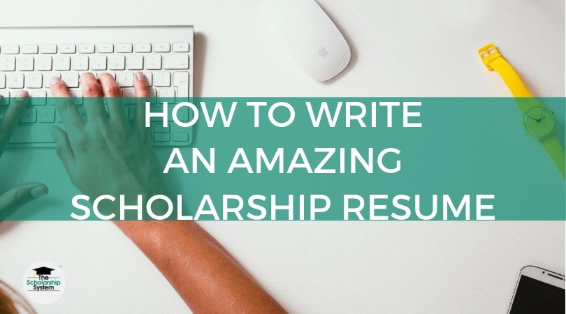 to write an amazing scholarship resume the system sample pencraft services certified Resume Scholarship Resume Sample