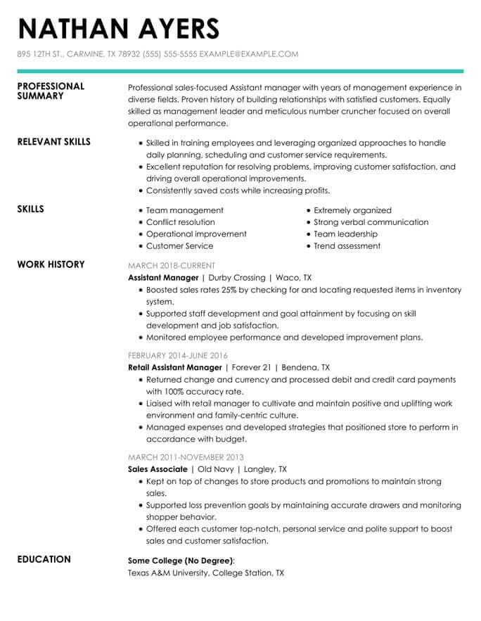 to write combination resume format examples included hloom functional assistantmanager Resume Combination Functional Resume