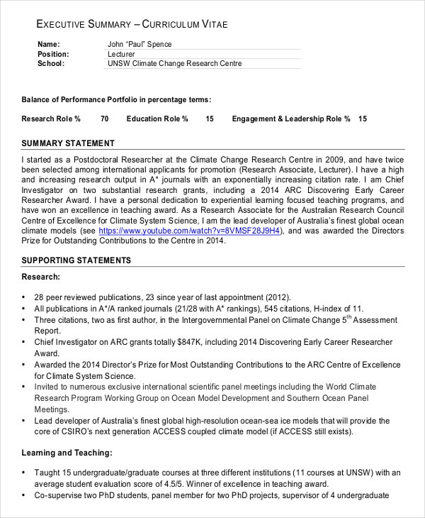 to write executive summary in cv the art of writing great resume statement example esl Resume Executive Summary Of Resume Example