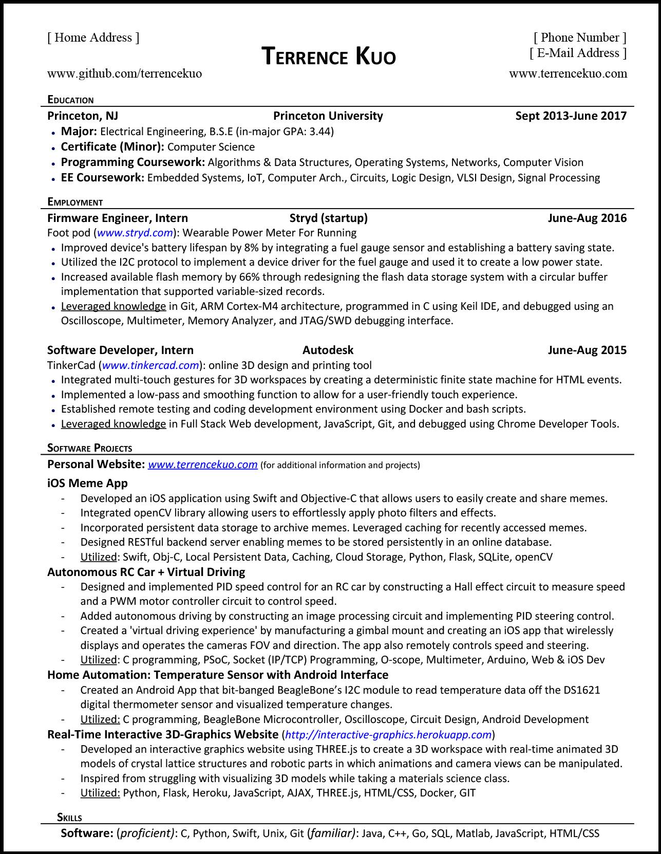 to write killer software engineering résumé listing classes on resume tk financial Resume Listing Classes On Resume