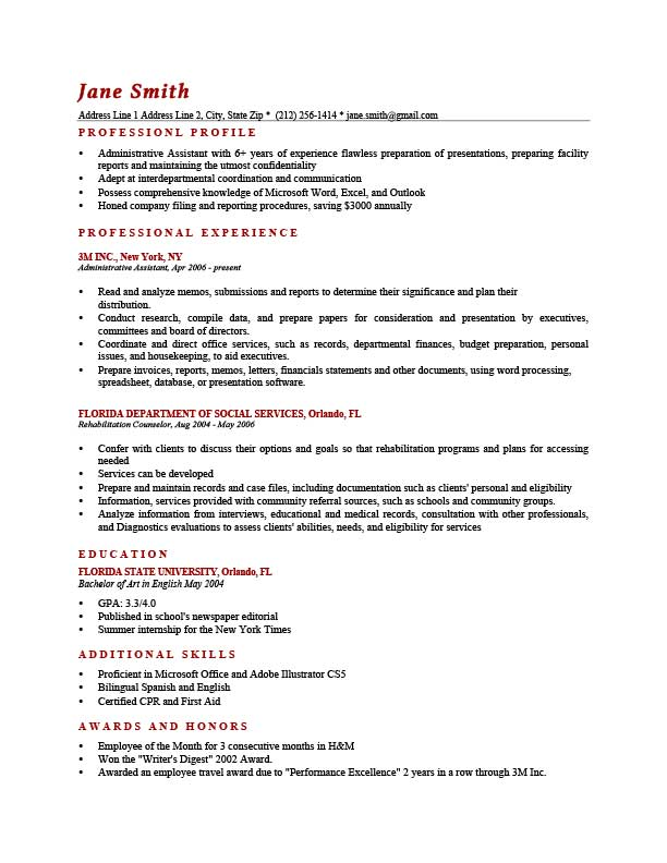 to write resume profile examples writing guide rg good for brick red template computer Resume Good Profile For Resume Examples