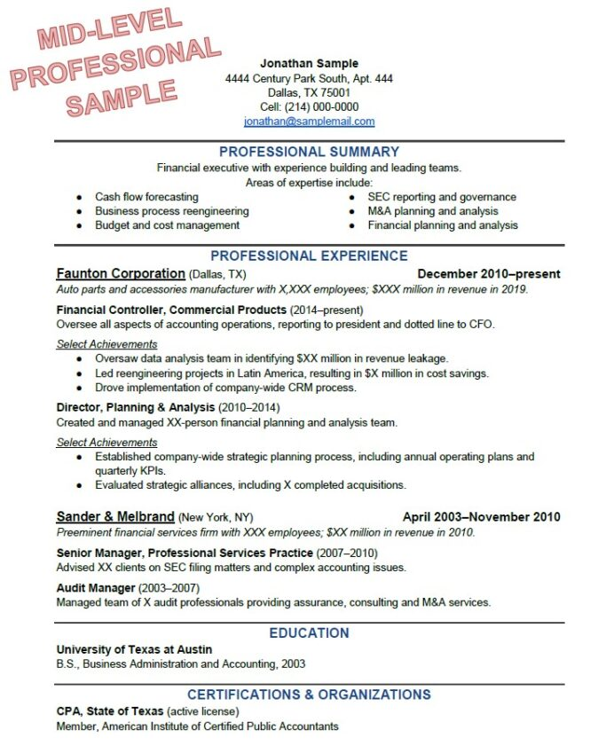 to write the perfect resume based on your years of experience one year work computer Resume One Year Work Experience Resume