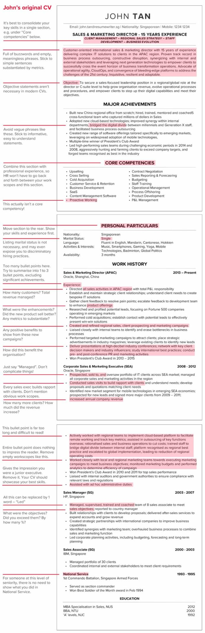 to write winning resume in your ultimate cv guide positive words for annotated john Resume Positive Words For Resume
