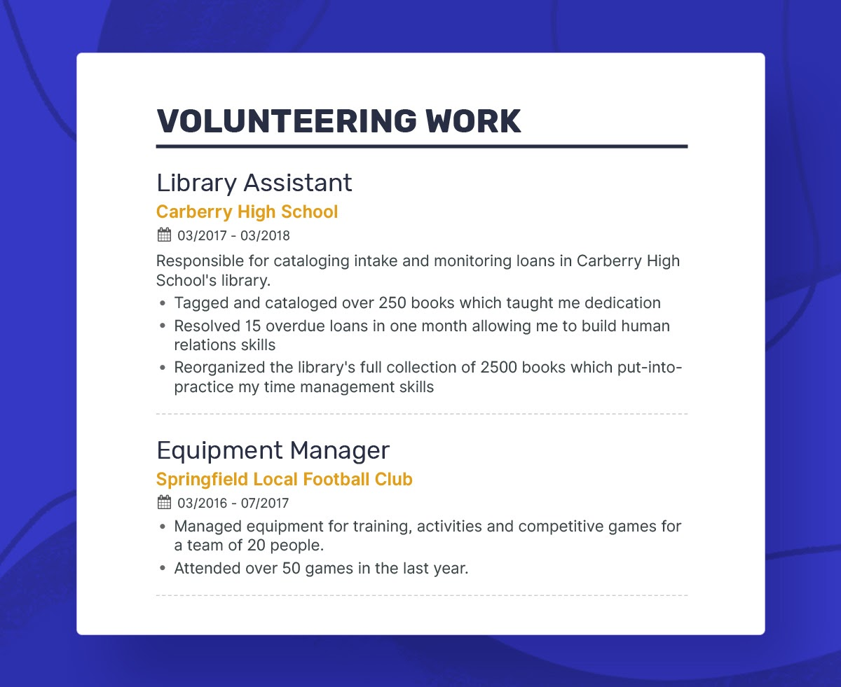 to write your first job resume should put volunteer work on volunteeringwork firstresume Resume Should I Put Volunteer Work On Resume