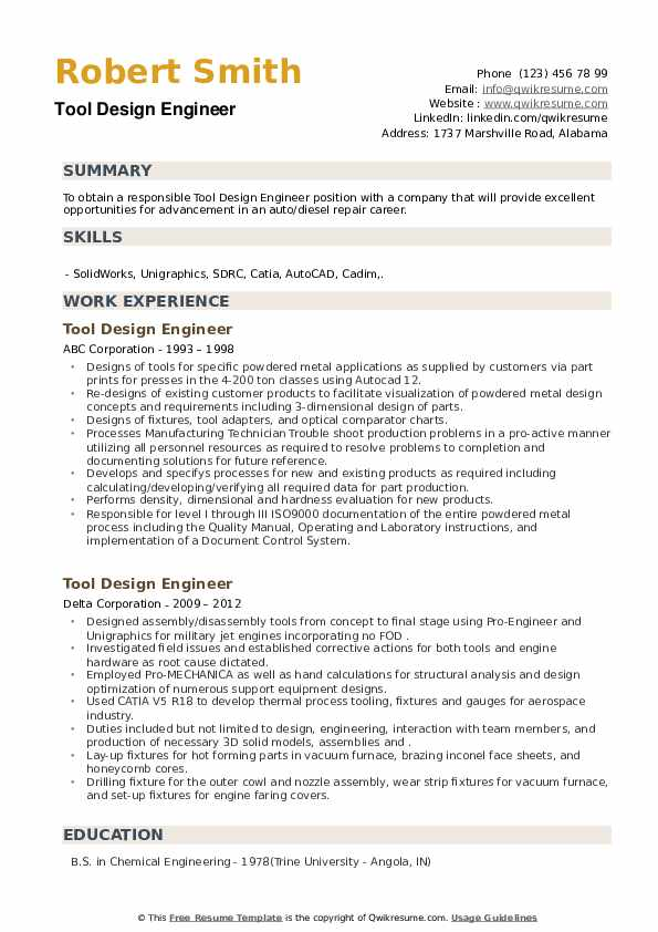 tool design engineer resume samples qwikresume example pdf clinical trial blue collar Resume Tool Design Engineer Resume Example