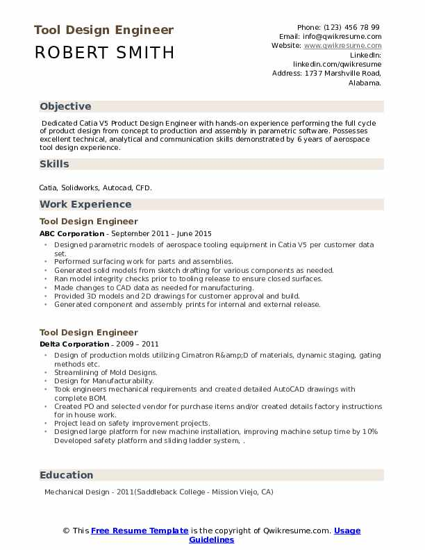 tool design engineer resume samples qwikresume example pdf tableau production manager Resume Tool Design Engineer Resume Example