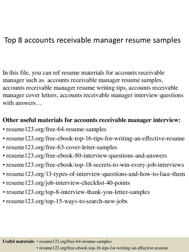 top accounts receivable manager resume samples criminal lawyer types of templates hybrid Resume Accounts Receivable Manager Resume