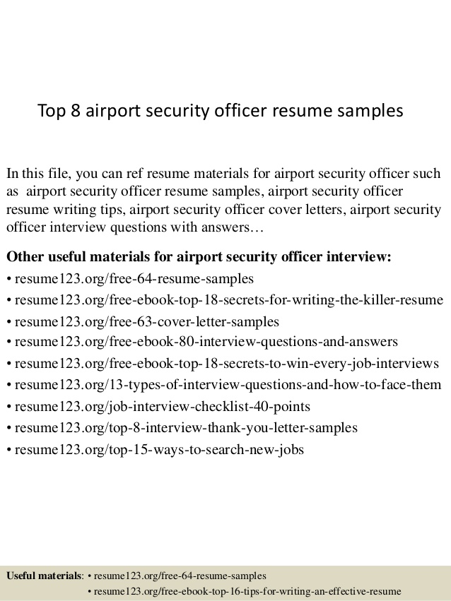 top airport security officer resume samples objective knowledge and skills on claims Resume Airport Security Resume Objective