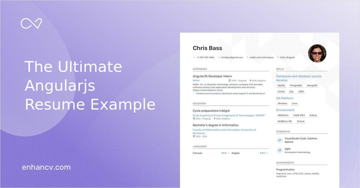 top angularjs resume examples samples for enhancv experience medical laboratory scientist Resume Angularjs Experience Resume
