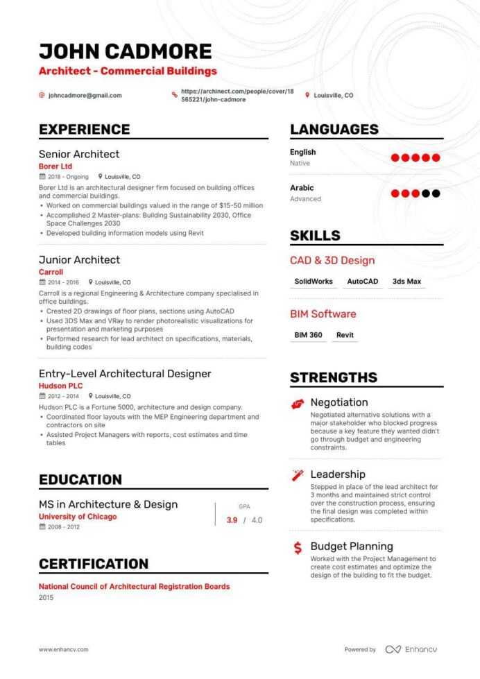 top architect resume examples samples for enhancv architecture firm asset management Resume Architecture Firm Resume