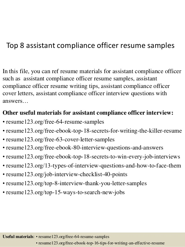 top assistant compliance officer resume samples objective data entry operator job Resume Compliance Officer Resume Objective