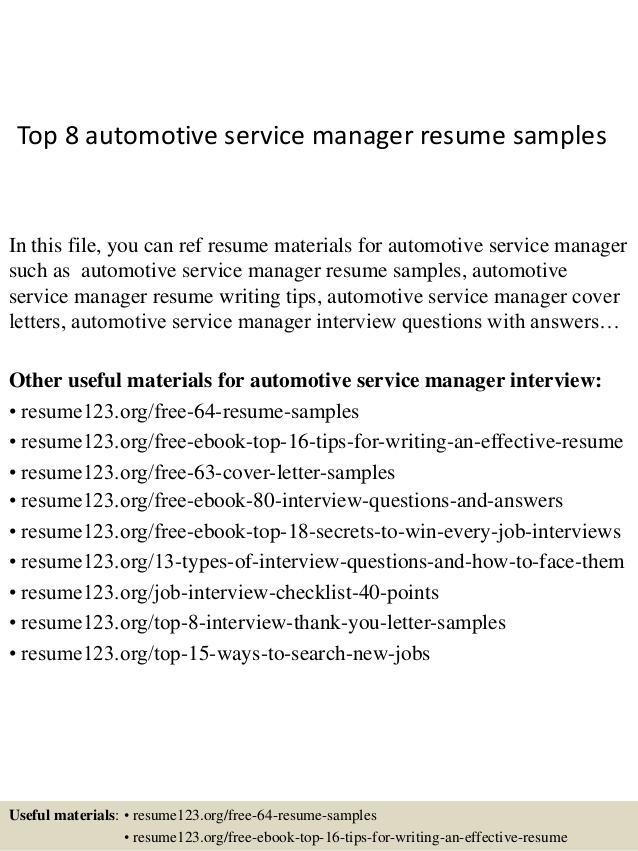 top automotive service manager resume samples finance examples engineering technologist Resume Automotive Finance Manager Resume Examples