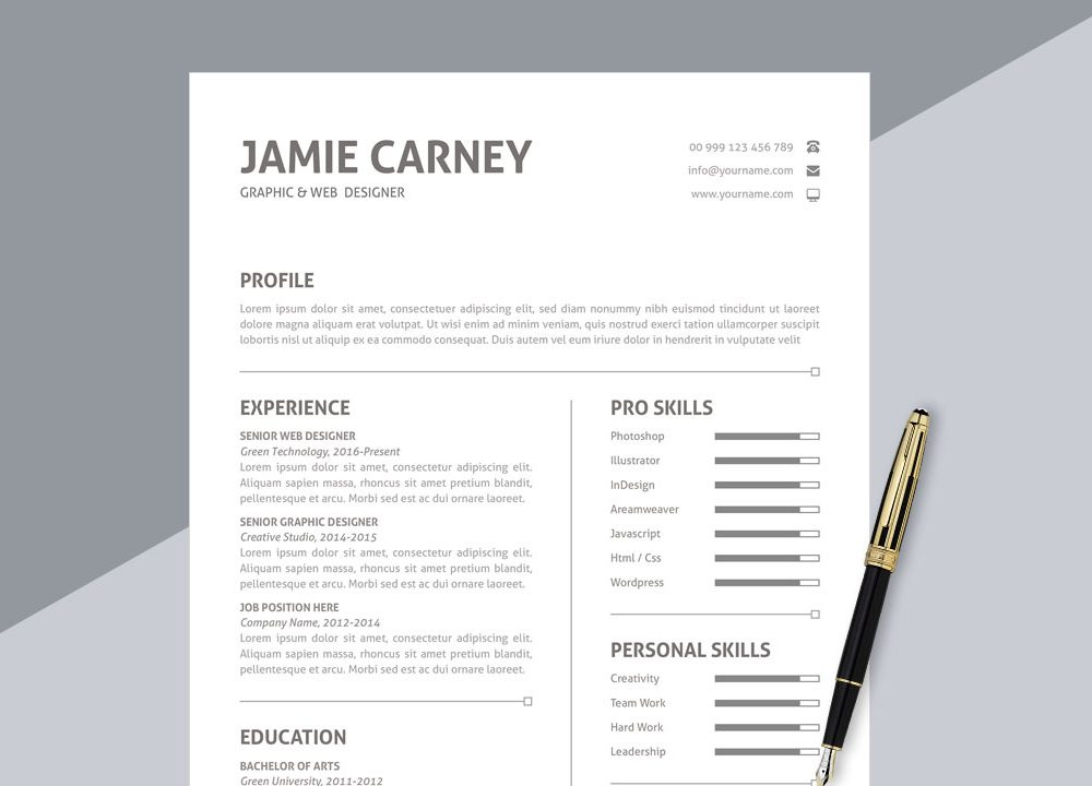 top best free resume templates to in webthemez template simple format ms word 1000x720 Resume Free Resume Template Download 2020