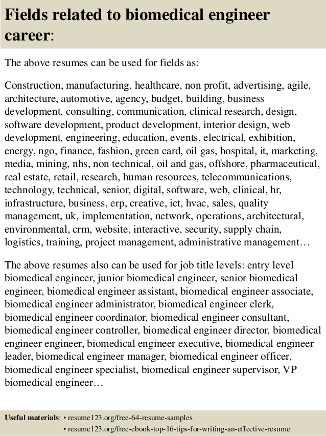 top biomedical engineer resume samples fresher bsc nursing hostess responsibilities Resume Biomedical Engineer Fresher Resume