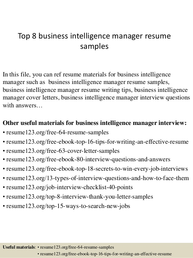 top business intelligence manager resume samples blank form free learning consultant Resume Business Intelligence Resume