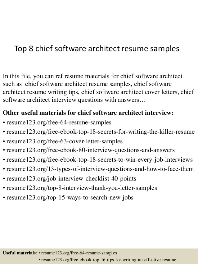 top chief software architect resume samples esthetician template headline ideas itil Resume Software Architect Resume