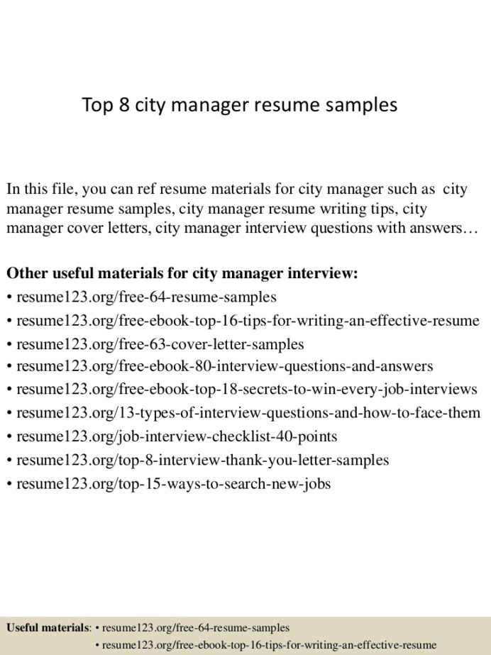 top city manager resume samples examples top8citymanagerresumesamples conversion gate01 Resume City Manager Resume Examples