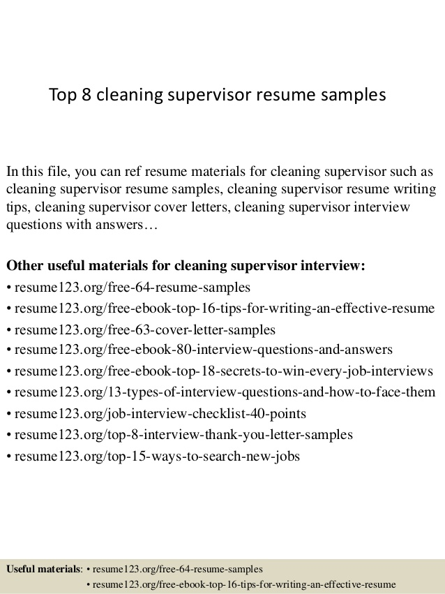 top cleaning supervisor resume samples janitorial sample examples usc tune up medical Resume Janitorial Sample Resume Examples