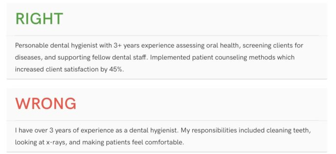 top dental resume samples pro writing tips oral health group best summary statements for Resume Best Summary Statements For A Resume
