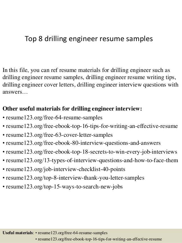 top drilling engineer resume samples oil rig template interior design project manager Resume Oil Rig Resume Template