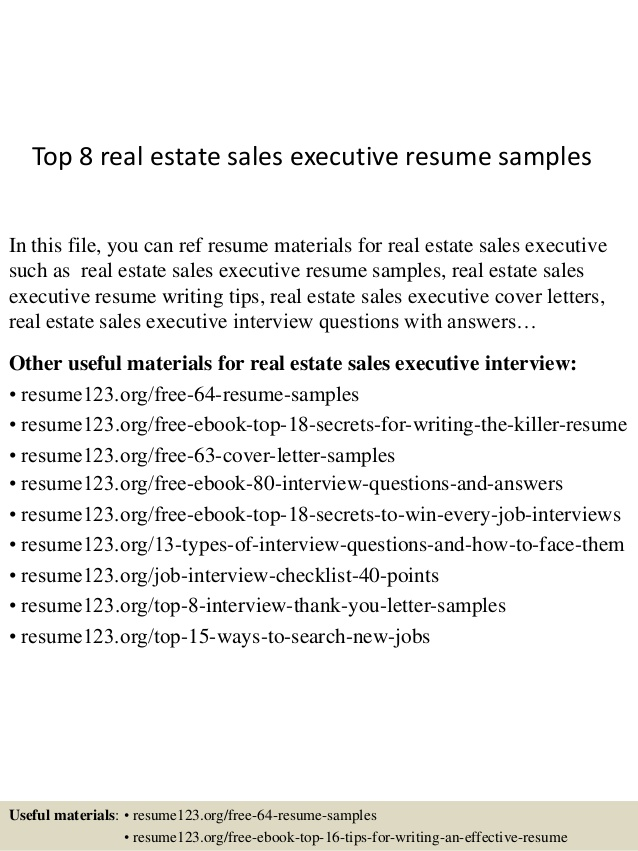top estate executive resume samples objective career change templates hospitality Resume Real Estate Resume Objective