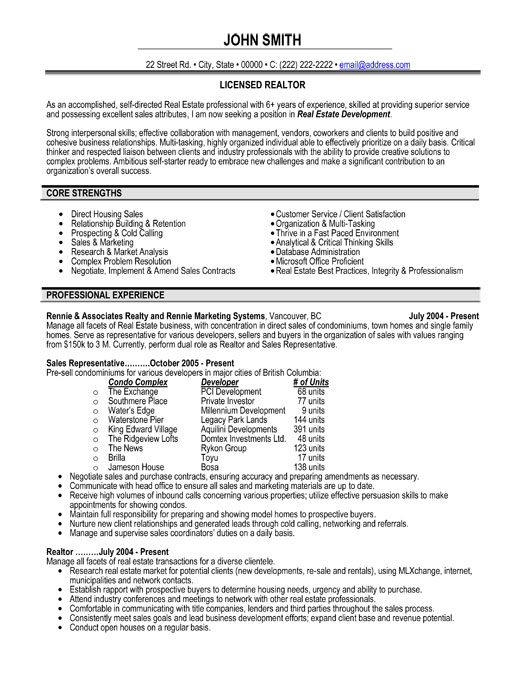 top estate resume templates samples examples for professionals professional licensed Resume Resume Examples For Real Estate Professionals
