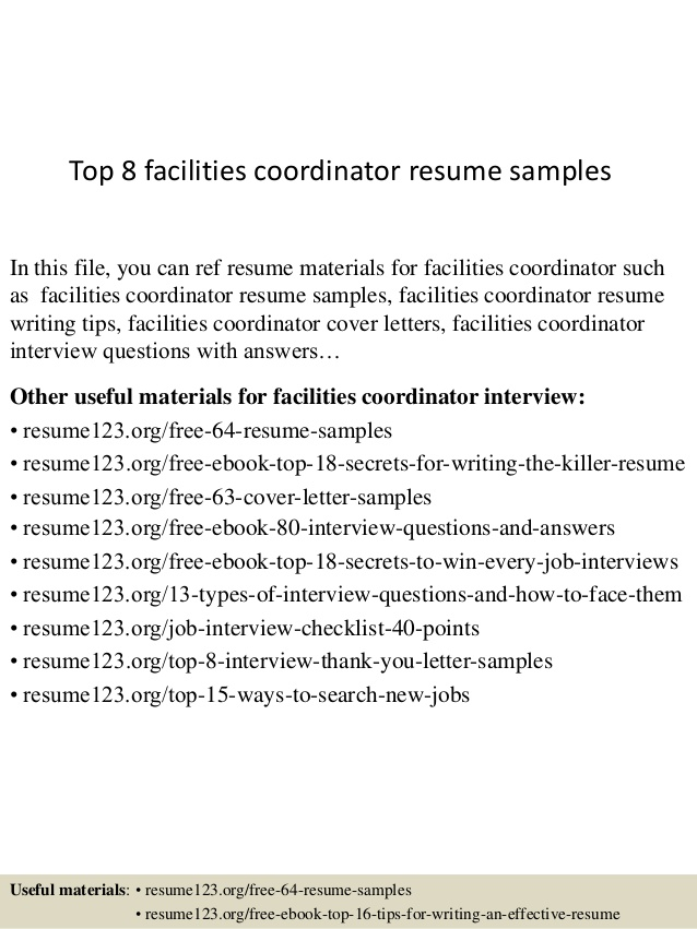 top facilities coordinator resume samples information security manager examples office Resume Facilities Coordinator Resume
