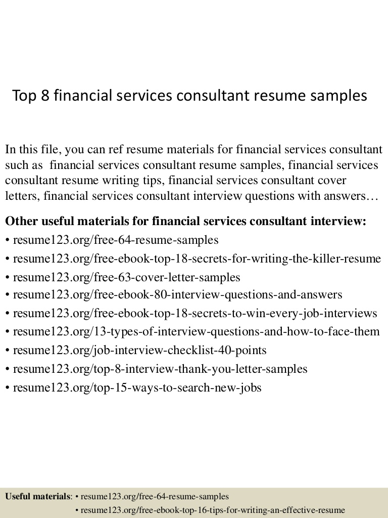 top financial services consultant resume samples Resume Financial Services Resume