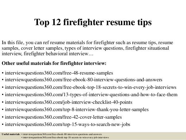 top firefighter resume tips example entry level client handling sample academic for Resume Firefighter Resume Example Entry Level