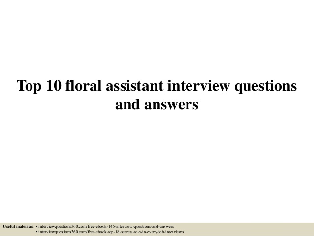 top floral assistant interview questions and answers resume hobbies for mba nerd login Resume Floral Assistant Resume