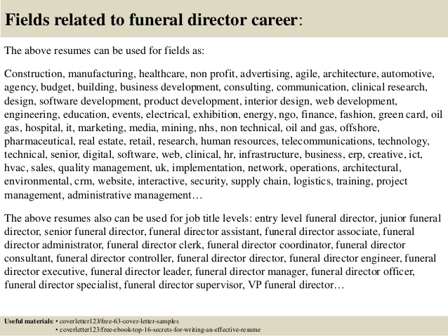 top funeral director cover letter samples home administrative assistant resume google Resume Funeral Home Administrative Assistant Resume