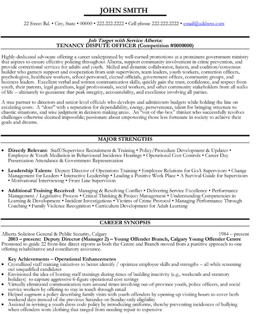 top government resume templates samples examples gov executive deputy director dispute Resume Canadian Government Resume Examples