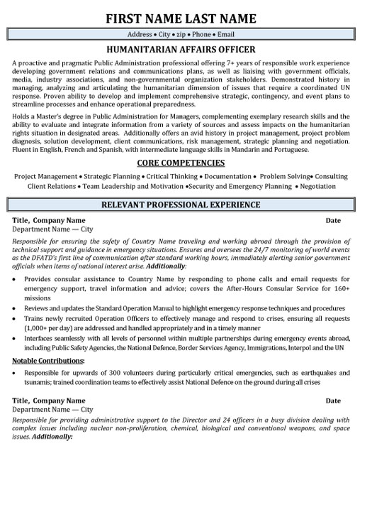 top government resume templates samples examples gov humanitarian affairs officer sample Resume Canadian Government Resume Examples
