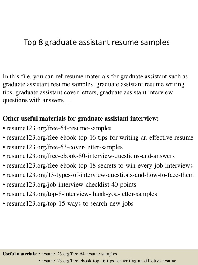 top graduate assistant resume samples create own template construction work experience Resume Graduate Assistant Resume