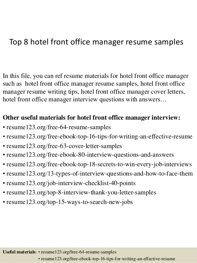 top hotel front office manager resume samples desk professional web designer paper target Resume Front Desk Manager Resume