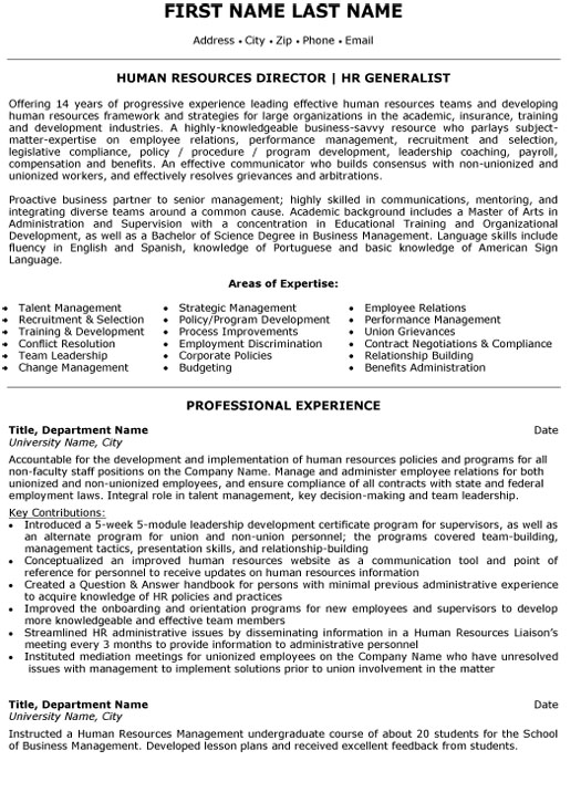 top human resources resume templates samples resource management example director Resume Resource Management Resume Example